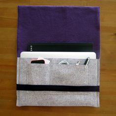 Tự may túi đựng laptop với nhiều ngăn tiện lợi - Kenh14.vn