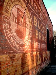 Painted Wall Sign - historic, brick, red, advertisement, Oregon - 8x10 fine art photograph