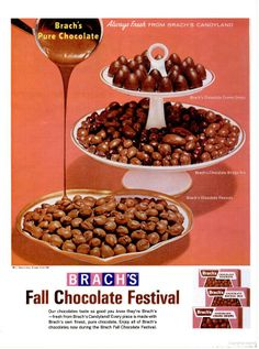 """Brach's Chocolate Candy (1964)...when ever my parents had """"card night"""" with the neighbors...they had these in little dishes...."""