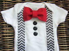 infant baby boy first valentine's day onesie - Google Search