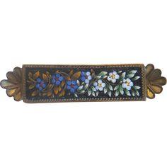 Antique Micro Mosaic brooch, 19th century - Antique Micro Mosaic brooch, 19th century