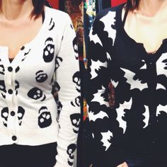 I cant choose which Halloween cardigan I love most <3 #blamebetty #bats #skulls