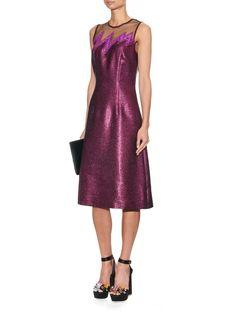 Lightening-bolt metallic dress | Christopher Kane | MATCHESFASHION.COM UK | #MATCHESFASHION