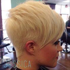 bleach blond pixie