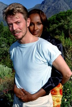 Hi, we're just normal people, LOL, just kidding we are DAVID BOWIE AND IMAN.