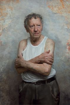 Very powerful series of portraits by Artist David Kassan - Sam Goldofski, an Auschwitz survivor