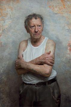 Sam Goldofski, an Auschwitz survivor by David Kassan (American, 1977)