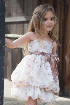 Luna Luna ``Czarina`` Stunning Champagne Bow Dress **PREORDER**Sizes 4/5 - 12