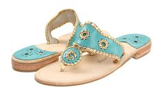 i adore these turquoise and gold jack rogers