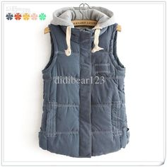 Wholesale Women Vest - Buy ESWALLOW New Fashion Women's Sleeveless Sweater Winter Waistcoat Five Colors Feather Cotton Hooded Vest, $29.5 | DHgate
