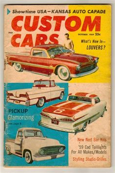 Thumbnail of Custom Cars Oct 1959 Old Vintage Hot Rod Magazine Pickup Truck Louvers Showtime