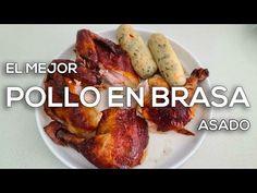 Receta del Mejor Pollo en Brasa / Asado + Mojo de Ajo y Bollitos Aliñados / Cesar Gonzalez Cocinero - YouTube Venezuelan Food, Venezuelan Recipes, Baked Potato, French Toast, Potatoes, Chicken, Meat, Baking, Breakfast