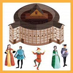 clip art shakespeare renaissance era queen elizabeth globe