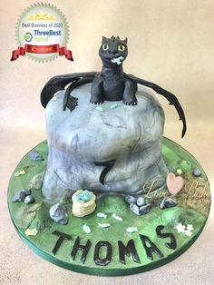 Toothless dragon by Love2bake- Aug 2020 Toothless Dragon, Cake Business, Cake Makers, Novelty Cakes, Homemade Cakes, Plymouth, Cake Ideas, Birthday, Birthdays