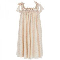 Dolce & Gabbana Beige Silk Chiffon Dress at alexandalexa.com