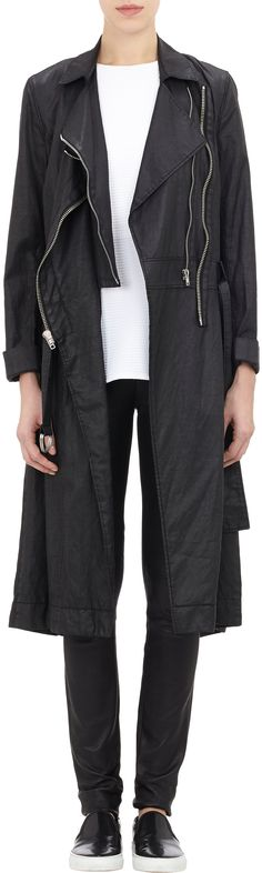 Helmut Lang Moto Coat at Barneys.com. I die.