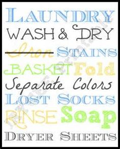 Home remodeling logo laundry rooms 27 ideas for 2019 Printable Quotes, Printable Wall Art, Crafts To Do, Diy Craft Projects, Laundry Signs, Laundry Quotes, Laundry Room Art, Laundry Room Inspiration, Words With Friends