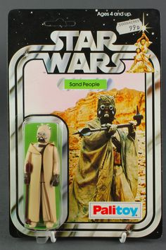 Lot 178, An original Star Wars Sand People 12 back figure (SW 12B) by Palitoy. Carded, unpunched with original bubble intact and Goodacres price tag, est £100-200