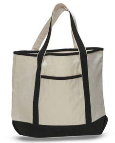 8b5184be82f2 Custom Embroidered Contrast Color Tote Bag