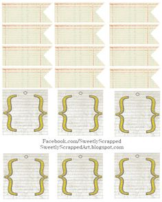 #papercraft #downloads #printable From Sweetly Scrapped Back+To+School+Tags.png (768×960)