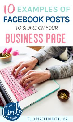 Looking for Facebook post examples to share on your business page? Try these different types of Facebook posts to increase engagement. These tips will give you inspiration whether you have a blog or another type of small business. Get started with this content strategy today! #facebookbusinesspage #facebook #facebookmarketing #socialmediatips #socialmediamarketing #contentstrategy #socialmedia #contentideas #facebooktips #facebookpage