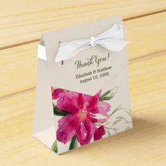 Romantic Floral Design Wedding Favor Boxes