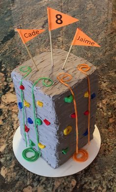 Climbing wall cake Best Picture For Birthday Cake unicorn For Your Taste You are looking for something, and it is going to tell you exactly what you are looking for, and you didn't find that picture. Rock Climbing Cake, Climbing Wall, Pinterest Cake, Birthday Cake Girls, Birthday Kids, Husband Birthday, New Cake, Baking With Kids, Cakes For Boys