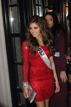 Miss USA Erin Brady in Shail K style KK3157 at Miss Universe