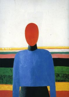 Female Torso, Oil by Kazimir Severinovich Malevich (1879-1878, Russia)