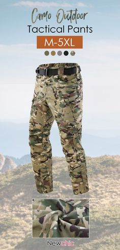 6eb0ec66b Mens Size Quick-dry Camo Cargo Pants Outdoor Tactical Pants Military Pants  is warm, see other men pants on NewChic.