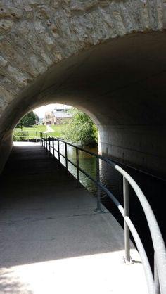 Walkway under the bridge in Soper park. Cambridge Ont
