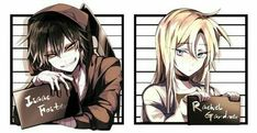 Isaac Foster and Rachel Gardner Angels of Death Satsuriku no Tenshi Angel Of Death, Different Drawing Styles, Anime Watch, Rpg Horror Games, Satsuriku No Tenshi, Cute Pokemon, Anime Ships, Best Couple, Image Boards