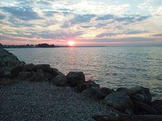 Sunrise over Sandusky Bay from the Marina