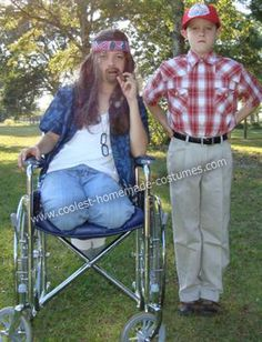 These children were raised right. Ultimate Halloween costume.  Lt Dan and Forest Gump, LOVE it!
