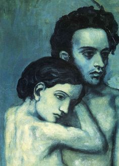 ▼ La Vie (detail), 1903 byPablo Picasso