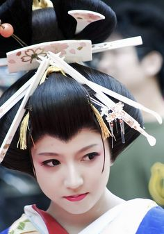 Oiran-Tayu is the top courtesan in kyoto( Shimabara )