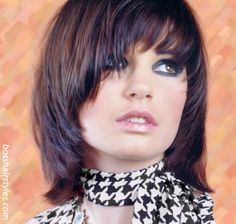 Shaggy Bob With Bangs | think something layered shaggy choppy with bangs is the way to go