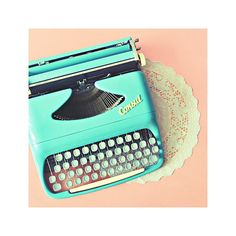 Blue typewriter by TheMapleTeaHouse on Etsy, $9.00