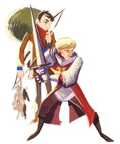 mohja:  Another Merlin fanart. I always get lazy when I have to color Merlin. :/