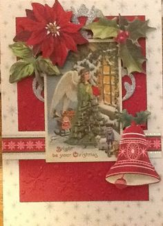 Made from Anna Griffin's Christmas Card kit.    Anna Griffin Holiday Trimmings