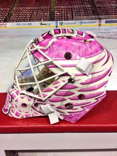 Here we have Jimmy Howard's Hockey Fights Cancer mask this year. Incredible!