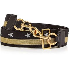 Marc Jacobs Metallic Stars and Stripes Handbag Strap (5.120 RUB) ❤ liked on Polyvore featuring bags, handbags, shoulder bags, handbags shoulder bags, metallic purse, metallic handbags, striped purse and shoulder strap handbags