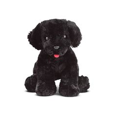 Melissa and Doug Benson Black Lab Puppy Dog Stuffed Animal, Multicolor