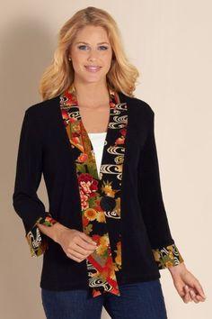 Kimono Jacket - Short Boucle Jacket, Asian Style Jacket, Jackets & Coats | Soft Surroundings