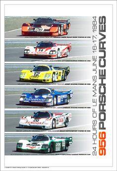 956 Porsche Curves - 24hrs of Le Mans -June 16-17 1984