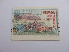 1864-1964 Nevada 5c Old 1964 U.S. Postage Stamp.