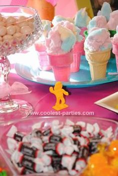 Candyland Birthday Party:  Candy doubled as decor, snacks and party favors. The colors were bright