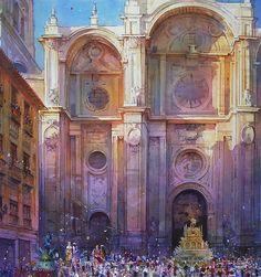 "Geoffrey Wynne Acuarelas - Watercolours: CORPUS CHRISTI EN GRANADA, ""LA TARASCA"""
