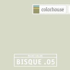 Colorhouse BISQUE .05 - Like seeing through a frozen pond to the world below. This white has hints of green and grey hidden in it. Complements LEAF and STONE hues on the walls when used on the trim.