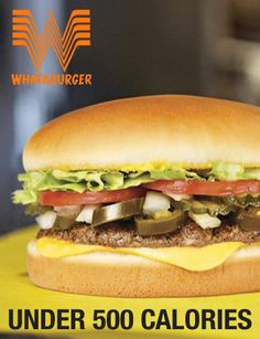 Meals at Whataburger under 500 calories.
